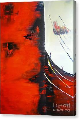 Light To Dark Canvas Print by David Hatton