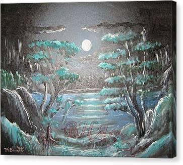 Light Touches Edges Canvas Print by M Bhatt
