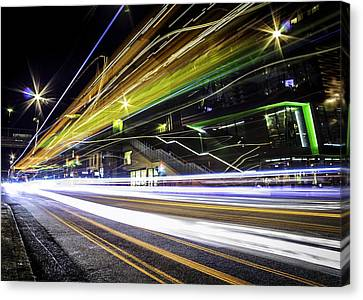 Canvas Print featuring the photograph Light Trails 1 by Nicklas Gustafsson