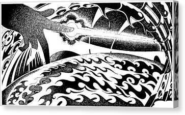 Musica Canvas Print - Light Up Hand by Ciro Pignalosa
