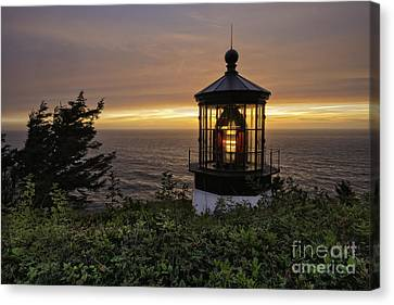 Light Up The Lighthouse Canvas Print by Moore Northwest Images