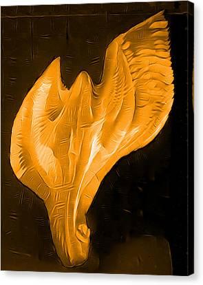 Light Warrior Goddess - Gold Canvas Print by Artistic Mystic