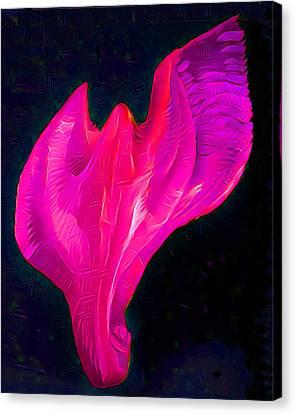 Light Warrior Goddess - Pink/purple Canvas Print by Artistic Mystic
