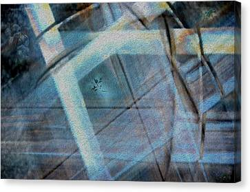 Light Wave Rust Canvas Print