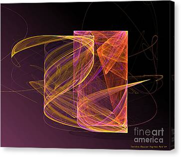 Lightbox Canvas Print by Sandra Bauser Digital Art