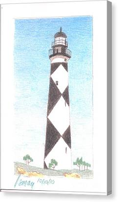 Canvas Print featuring the painting Lighthouse 3 by Rod Ismay
