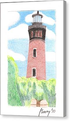 Canvas Print featuring the painting Lighthouse 4 by Rod Ismay
