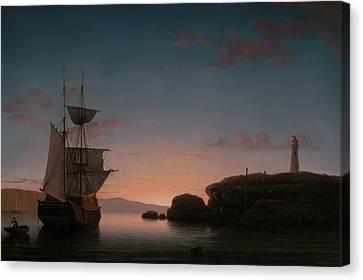 Lighthouse At Camden Maine Canvas Print