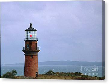 Lighthouse At Dusk- Marthas Vinyard Canvas Print