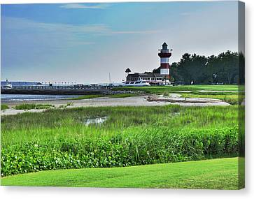 Lighthouse At Harbour Town Canvas Print by Lyle  Huisken