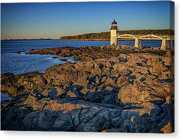 New England Lighthouse Canvas Print - Lighthouse At Marshall Point by Rick Berk