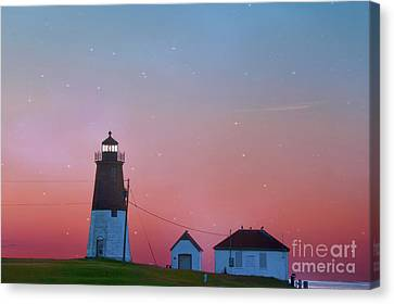 New England Lighthouse Canvas Print -  Lighthouse At Sunrise by Juli Scalzi