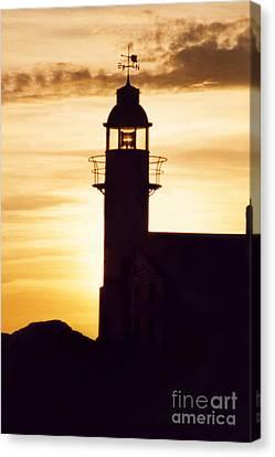 Lighthouse At Sunset Canvas Print