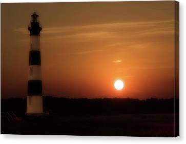 Lighthouse At Sunset  Canvas Print by Randy Steele