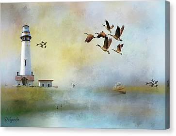 Lighthouse Bay Canvas Print by Theresa Campbell