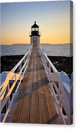 Lighthouse Boardwalk Canvas Print by Benjamin Williamson