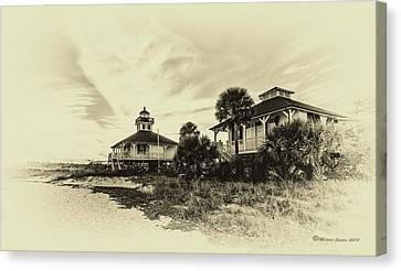 Cupola Canvas Print - Lighthouse Boca Grande by Marvin Spates