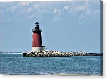 Delaware Breakwater East End Lighthouse - Lewes Delaware Canvas Print by Brendan Reals