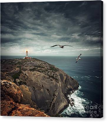 Lighthouse Cliff Canvas Print