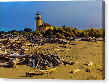 Lighthouse Coquille River Canvas Print by Garry Gay