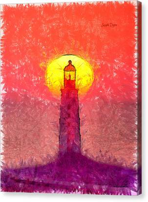Safety Canvas Print - Lighthouse - Da by Leonardo Digenio