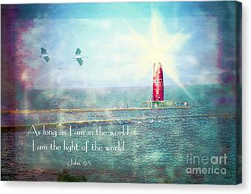 Lighthouse Canvas Print by Debbie Nobile