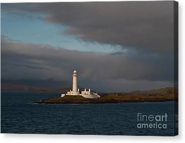 Lighthouse Eilean Musdile Scotland Canvas Print by Atlas Photo Archive