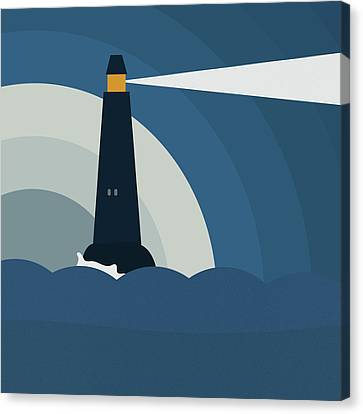 Stormy Canvas Print - Lighthouse by Frank Tschakert
