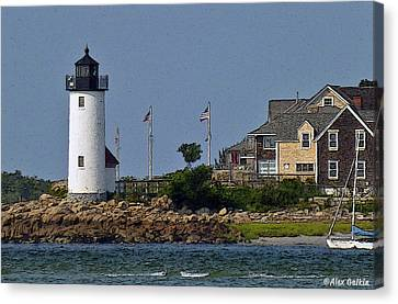 Lighthouse In The Ipswich Bay Canvas Print