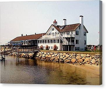 Canvas Print featuring the photograph Lighthouse Inn At Bass River by Frederic Kohli