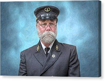 Lighthouse Keeper Portrait Canvas Print by Randy Steele