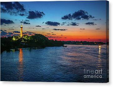 Lighthouse Light Beam Canvas Print by Tom Claud