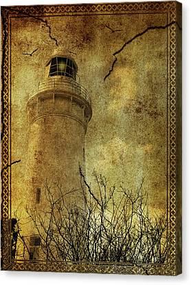 Canvas Print featuring the digital art Lighthouse by Margaret Hormann Bfa