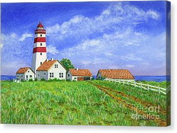 Lighthouse Pasture Canvas Print
