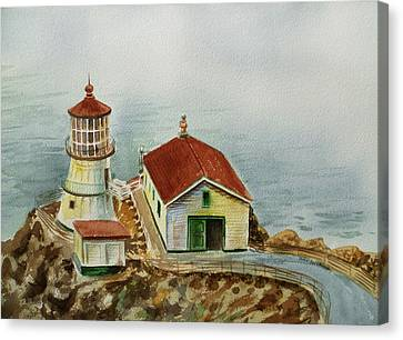 Lighthouse Point Reyes California Canvas Print by Irina Sztukowski