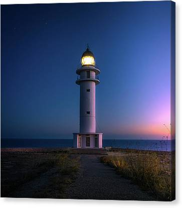 Lighthouse Canvas Print by Happy Home Artistry