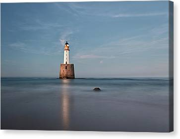 Canvas Print featuring the photograph Lighthouse Twilight by Grant Glendinning
