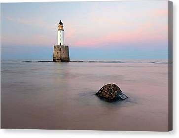 Canvas Print featuring the photograph Lighthouse Rattray by Grant Glendinning