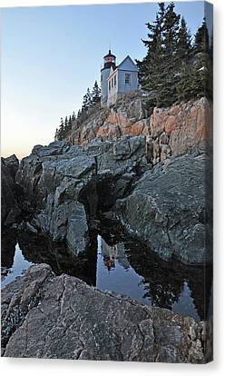 Canvas Print featuring the photograph Lighthouse Reflection by Glenn Gordon
