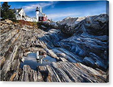 Lighthouse Reflections Canvas Print by George Oze