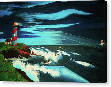 Lighthouse Rescue Canvas Print