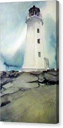 Lighthouse Rock Canvas Print by Ed Heaton