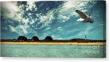Lighthouse Scenery At List Canvas Print by Hannes Cmarits