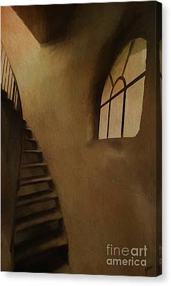 Canvas Print featuring the photograph Lighthouse Stairs by Jim  Hatch