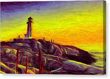 Lighthouse Sunset Canvas Print by Caito Junqueira