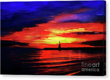 Lighthouse Sunset  Canvas Print by Gull G