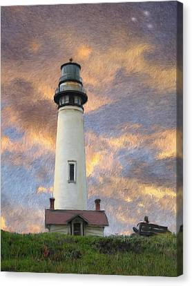 Lighthouse Visitors Canvas Print by Snake Jagger