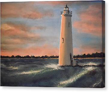 Lighthouse Waves Canvas Print