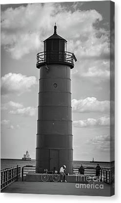 Lighthouses Of Milwaukee Canvas Print