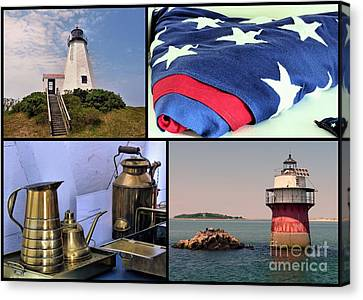 Lighthouses Of Plymouth Ma Canvas Print